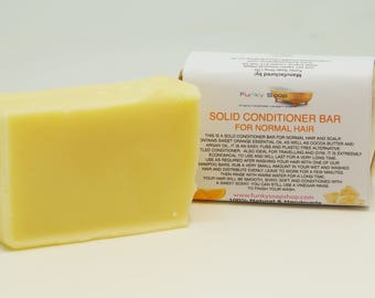 1x Solid Conditioner Bar for Normal hair, 95g, Handmade and economical