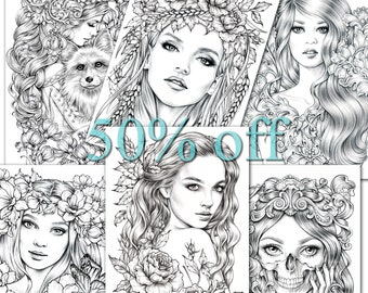 Coloring Pages 6 pack of Premium Art | 50% off