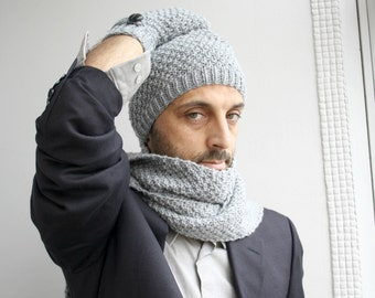 Handknit Wool Hat Beanie For Men Fathers day  perfect Gift For my Dad