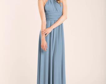 Blue bridesmaid dress, Niagara blue dress, bridesmaid dresses, niagara blue wedding, infinity dress, jeans blue dress, niagara blue dresses