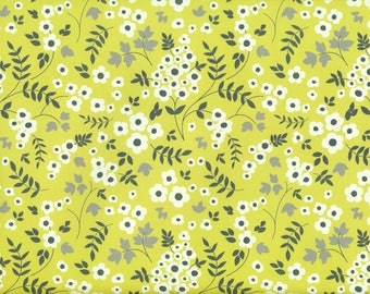 Yellow Floral-gift wrapping paper from England