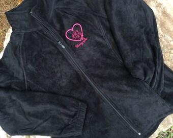 Sonographer Monogrammed Fleece Jacket – Full Zip Fleece- Monogram Jacket – Personalized – Monogrammed Jacket - Monogram fleece