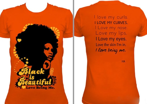 Black is Beautiful Orange