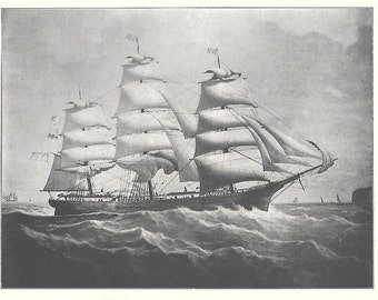 Print of the Sailing Ship Winona, built in 1862
