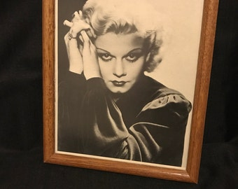 Vintage Movie Star Picture of Jean Harlow SALE PRICE now 27.00