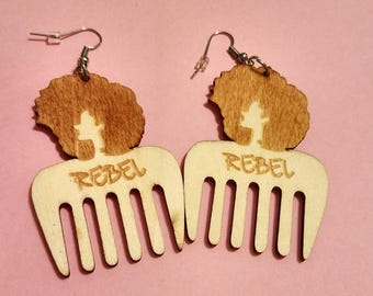 SM/MED Rebel Afropick Earrings