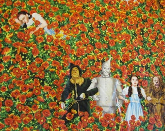 Free Shipping! The Wizard of Oz Fabric. Poppy Field. 1/2 Yard. 17035