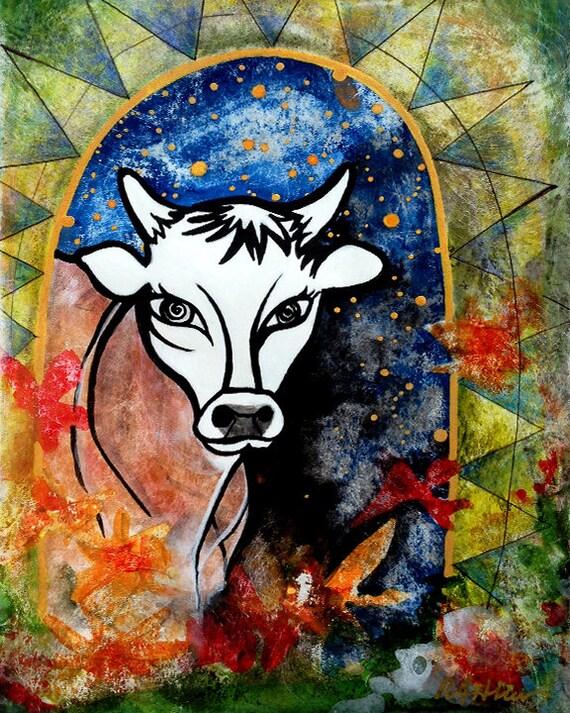 Kuh Kuh Print Dairy Kühe Geschenke Küche-Wand-Dekor beste