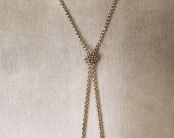 Knotted Lariat Necklace