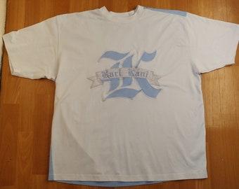 KARL KANI jersey, vintage t-shirt, 90s hip-hop clothing, old-school shirt, white hip hop shirt, 1990s gangsta rap, 2Pac Brooklyn og, size XL