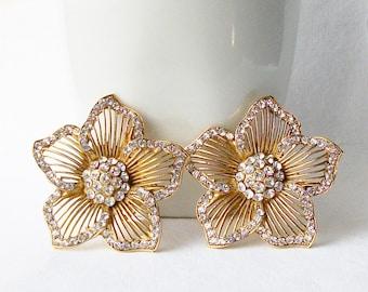 Vintage Thelma Deutsch Clip Earring, Vintage Designer Clip Earrings from the 1980's, Deutsch Clip Earrings