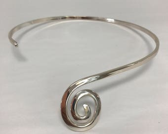 Spiral Silver Plated Choker