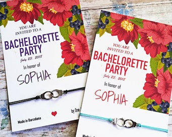 Set Bachelorette Favors • Bridal Shower Favors • Handcuffs Bracelet • Bride Tribe  • Set Bracelets • Bachelorette Party • Hen party