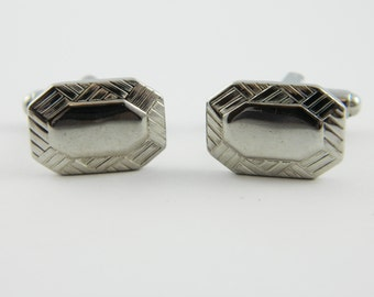 Silver Woven Cuff Links - CL007