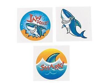 24/ My Shark Party Tattoos  / Party decorations/ shark theme /shark/ shark tattoos