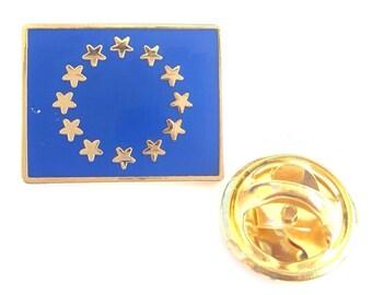 European Union Oblong  enamel  Lapel Pin Badge