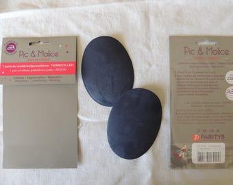 1 pair of elbow/knee pads on Blue Navy