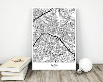 PARIS City Map - DIGITAL Files - 5 DIFFERENT Sizes