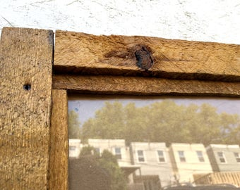 Reclaimed Wooden Picture Frame, Handmade