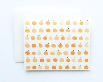 Orange Card, Oranges Card, Blank Orange Card, Fruit Card, Blank Card