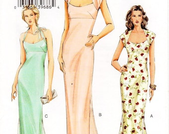 Pick Your Size - Vogue Dress Pattern V8076 - Misses' Fit and Flare, Raised Waist Dress with Godets in Three Variations - Vogue Patterns