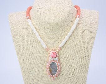 Swarovski necklace, Statement jewelry, Statement necklace, Beaded necklace, Handmade necklace, Swarovski jewelry, Unique jewelry