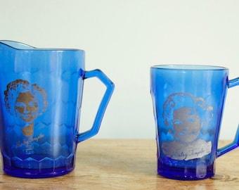 Shirley Temple Pitcher and Mug