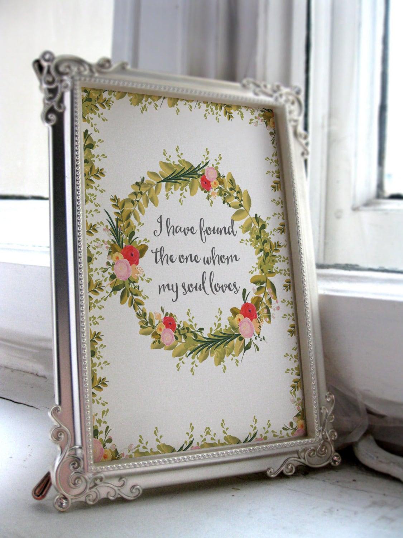 Bible Quotes For Wedding Wedding Bible Verse Art Print Scripture Wedding Decor Verses