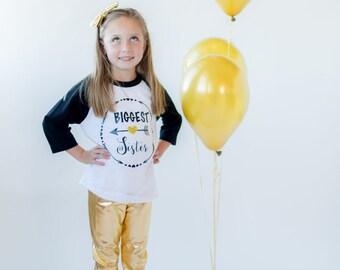 Biggest Sister Shirt Little Sister Shirt Personalized Shirt Sibling Shirts Sister Shirt Pregnancy Announcement Shirt Baby Announcement Shirt