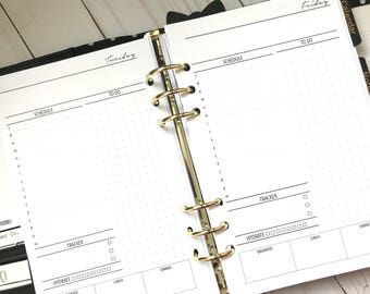 Day On One Page | DO1P| Hourly| Printed Planner Inserts| Half Letter Size For A5 Planners