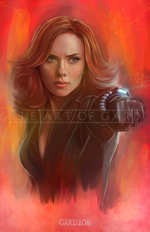Black Widow (11X17 Artist's Print)