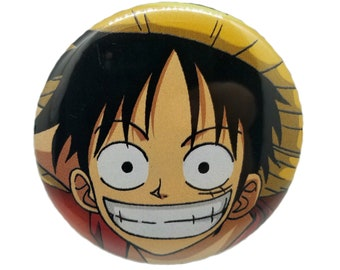 2.25-Inch Luffy (One Piece) Pin-Back Button