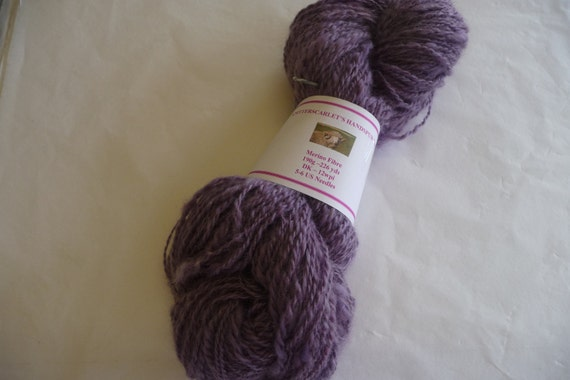 Purple Merino Handspun Yarn 190g/226yds