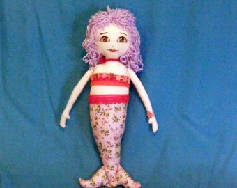 Caribbean Mermaid  Rag Doll