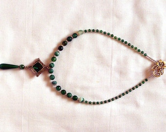 Green drop necklace