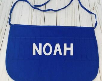 Childs apron, blue apron, blue Childs art apron personalized,  monogrammed apron, Childs apron, blue apron, blue Childs art apron personal