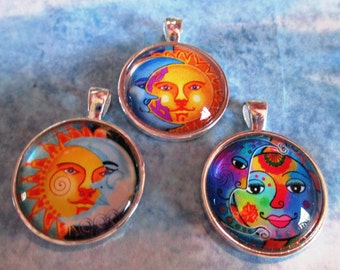 Sun and Moon Pendants