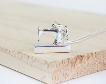 Freyja * Sewing Machine * Solid Silver * Sterling Silver * Sewing Necklace * Seamstress * Tailor * Dressmaker * Needleworker * Vintage