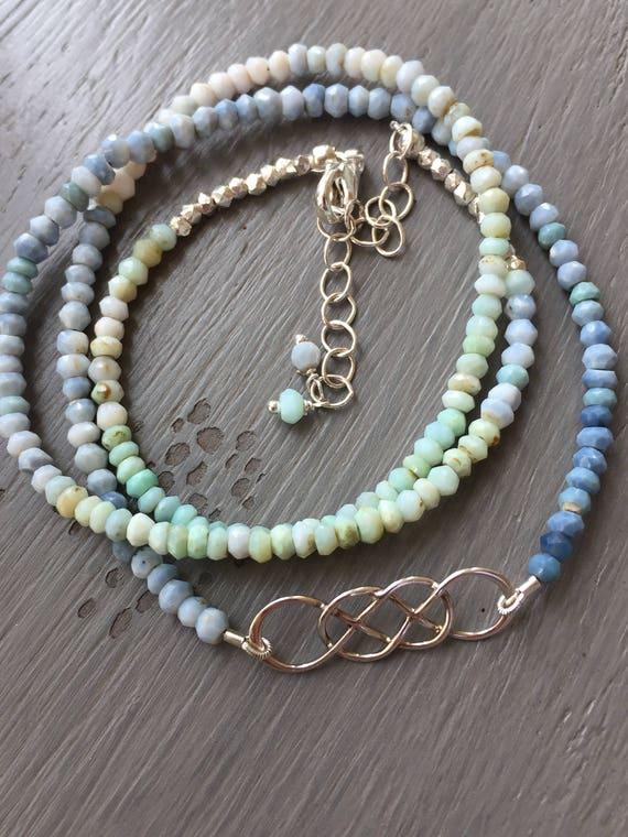 Infinity Wrap Bracelet Gemstone Wrap Yoga Wrap