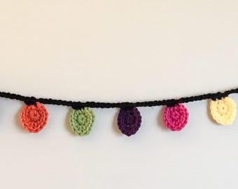Christmas Bulb Garland - Crochet