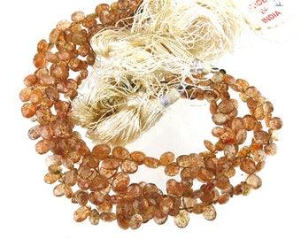Sunstone Faceted Briolettes, 60 carats