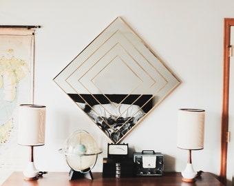 Vintage Brass / Gold Mirror Square inlay