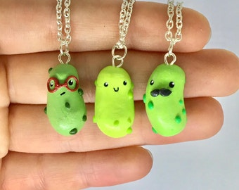 Cute Pickle Necklace 3 Three Types Present