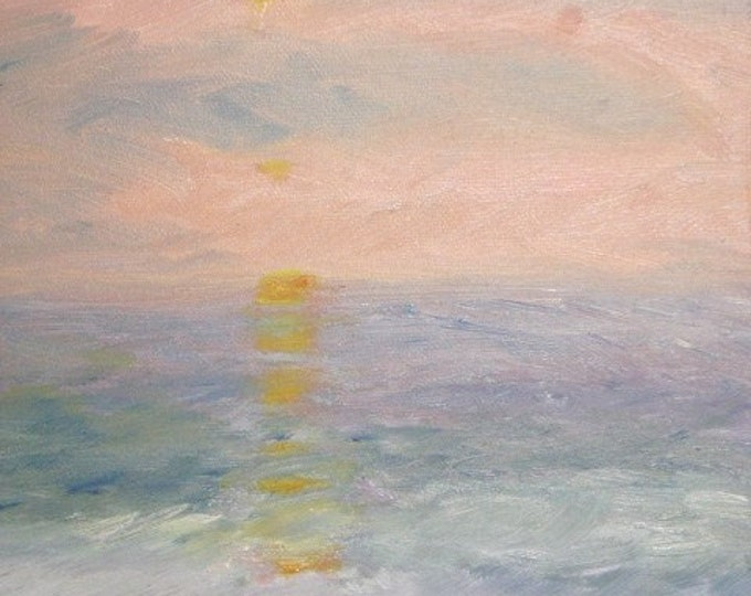 Ocean City Sunrise - Daily Oil Painting - Free Shipping