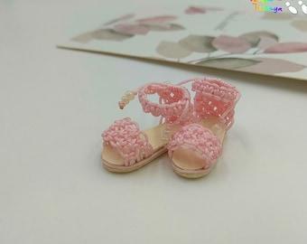 Blythe Momoko DAL Pullip Handmade Boots Shoes (SAKURA)