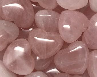 Rose Quartz Heart Crystal 32mm   Love Crystal   Fertility Crystal   Worry Stone   Palm Stone #H11