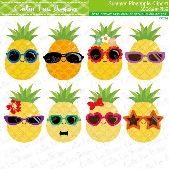 Pineapple Clipart, Cute Pineapple Clip Art , Sunglasses ...