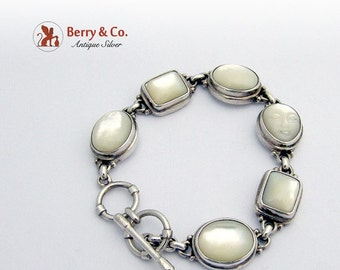 SaLe! sALe! Sterling Silver Bracelet Mother of Pearl
