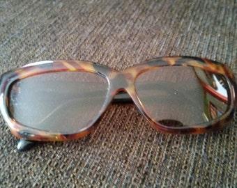 Vintage Opti-Ray Tortoise Shell Sunglasses Free Shipping