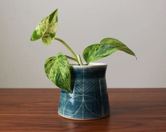Blue Flower Vase